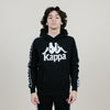 Kappa Banda Hurtado Slim Fit Hoodie (Black/White)