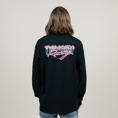 Thrasher Racing L/S Tee (Black)