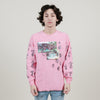 stacy house I want a divorce l/s Tee (pink)