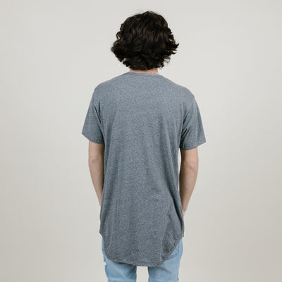 EPTM Side Zipper OG Long Tee (Tri-Blend Heather Grey)