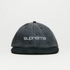 Supreme Denim Suede Compact Logo 6 Panel (Black)