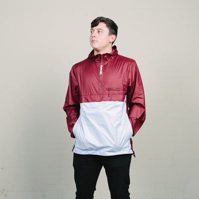 Nike SB Packable Anorak Jacket (Burgundy/Light Blue) $50.00