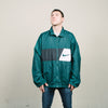 Vintage 90s Nike Big Swoosh Windbreaker (Forest Green)