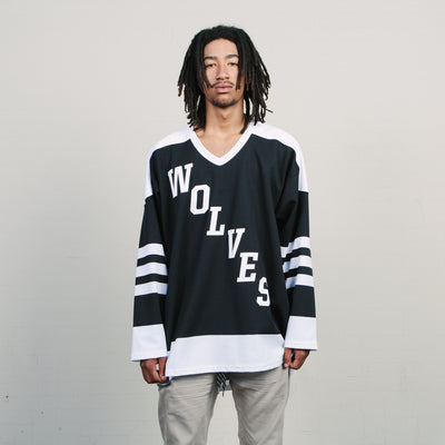 Vintage Raised By Wolves Hockey Jersey (Black/White)