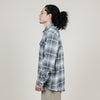 Dickies L/S Flannel Shirt (Antique White Slate Plaid)
