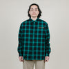 Born X Raised To Live And Die Flannel (Green/Black)