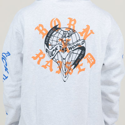 Born X Raised Fuck The World (Heather Grey)