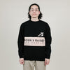Born X Raised Color Blocked Crewneck (Black/Cream)