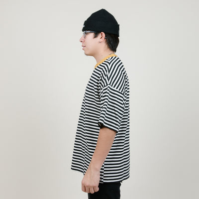 EPTM Ribbed Striped Tee (Mustard/Black)
