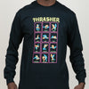 Thrasher Black Light L/S Tee (Black)