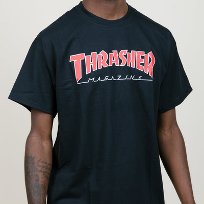 Thrasher Outline Tee (Black/Red)
