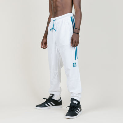 Adidas Classic Wind Pants (White/Teal)
