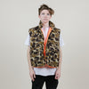 Vintage Avid Outdoor Camo Hunting Vest (Camo/Orange)