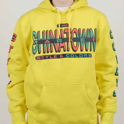 Chinatown Market Cross Colors Hoodie (Yellow)