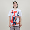 Champion Heritage Multi Technique Graphic Tee (White/Burnt Orange)