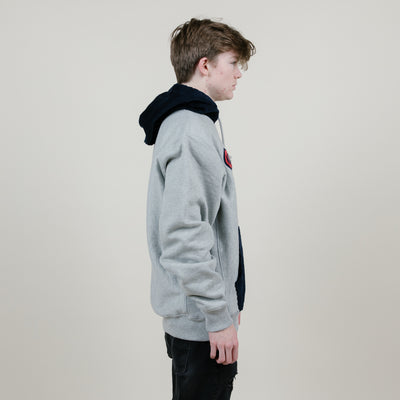 Champion RW PO Hood W/Corduroy Piecing (Oxford Grey/ Navy)