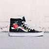 Vans Old Skool High Custom Floral (Black)