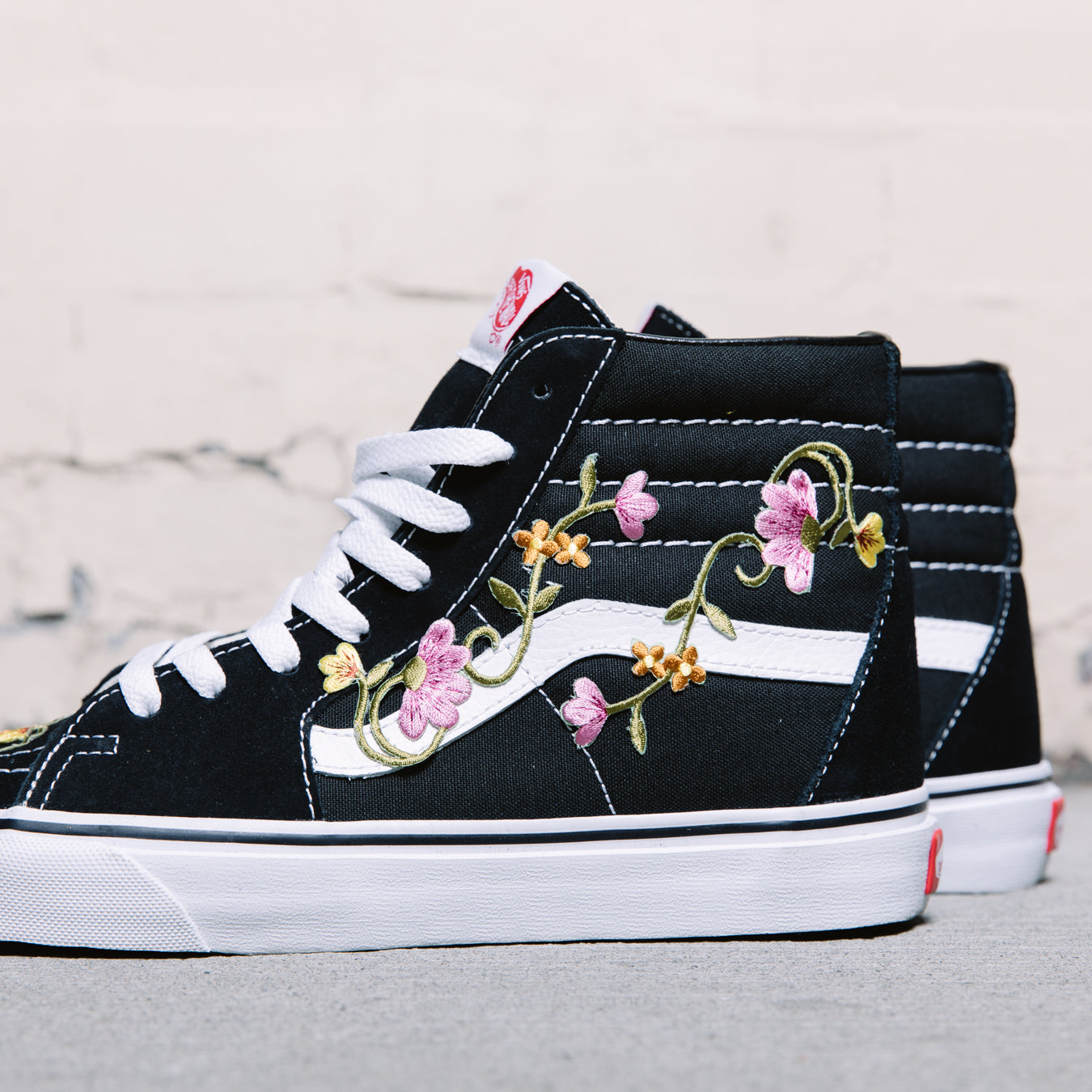 High Newyakcity black Custom Old Floral Skool Vans q1gwn