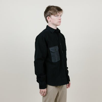 Quasi CM L/S Button Up (Black/Grey)