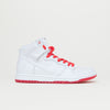 Nike SB Zoom Dunk High Pro QS (White/White-University Red Blanc)