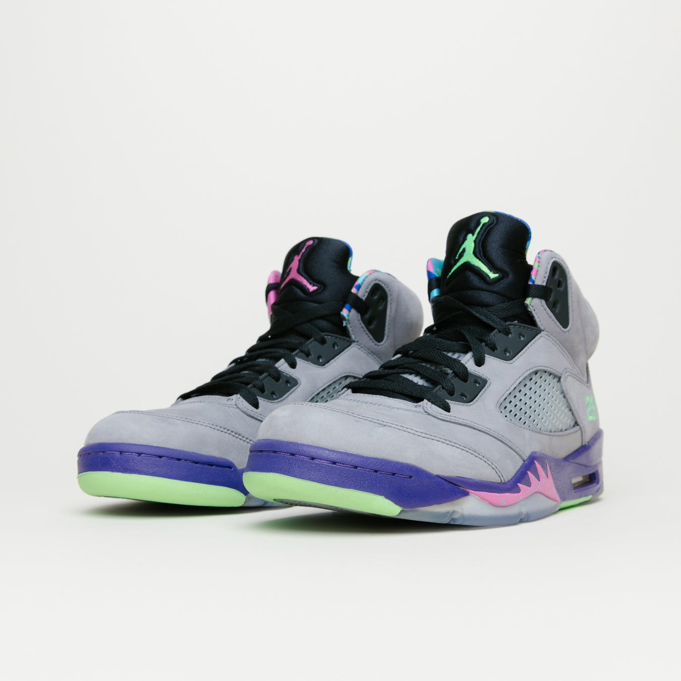 new style 9d629 bcec1 ... hot air jordan retro 5 bel air grey purple green e2222 2bcc8