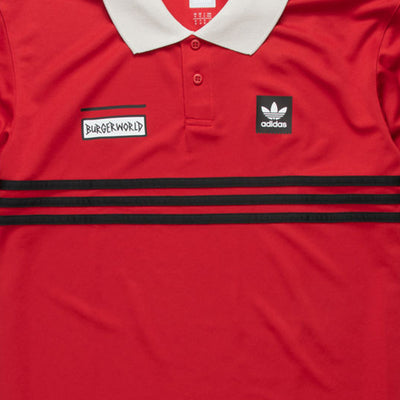 Adidas Beavis and Butthead Button Up Polo (Red)