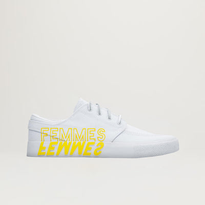 Nike SB Zoom Janoski RM QS (White/Clear-White-Tour Yellow) $95.00