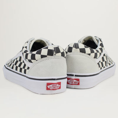 Vans Old Skool (White/Black-Checkerboard)