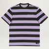 Welcome Big Beautiful Stripe Tee (Black/Lavender)
