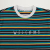 Welcome Surf Stripe L/S Tee (Black/White)