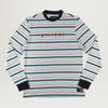Welcome Surf Stripe L/S Tee (White/Red)