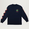 Welcome Waves L/S Tee (Navy)