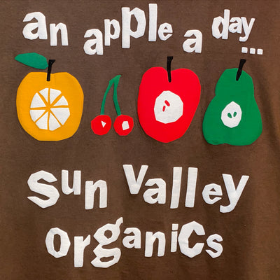 Sun Valley Organics An Apple A Day... Tee (Brown)