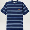 Butter Goods Market Stripe Tee (Navy/White/Teal)