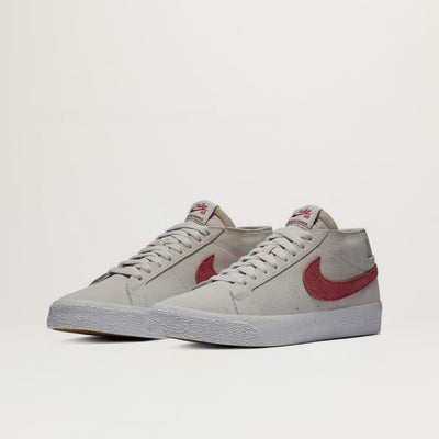 Nike SB Zoom Blazer Chukka (Vast Grey/Team Crimson) $80.00