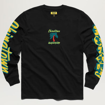 Chinatown Market Palm Tree L/S Tee (Black)