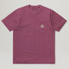Carhartt WIP S/S Pocket Tee (Dusty Fuchsia)