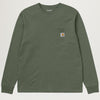Carhartt WIP L/S Pocket Tee (Dollar Green)