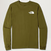 The North Face Box L/S Tee (Fir Green)