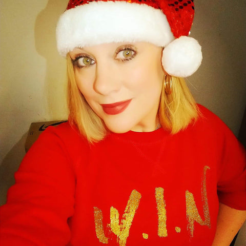 Sparkling Christmas WIN Sweatshirt -  Red