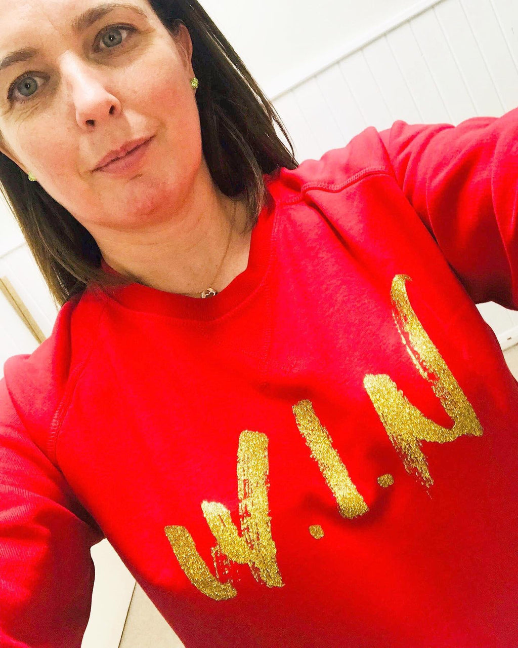Sparkling WIN Sweatshirt -  Red