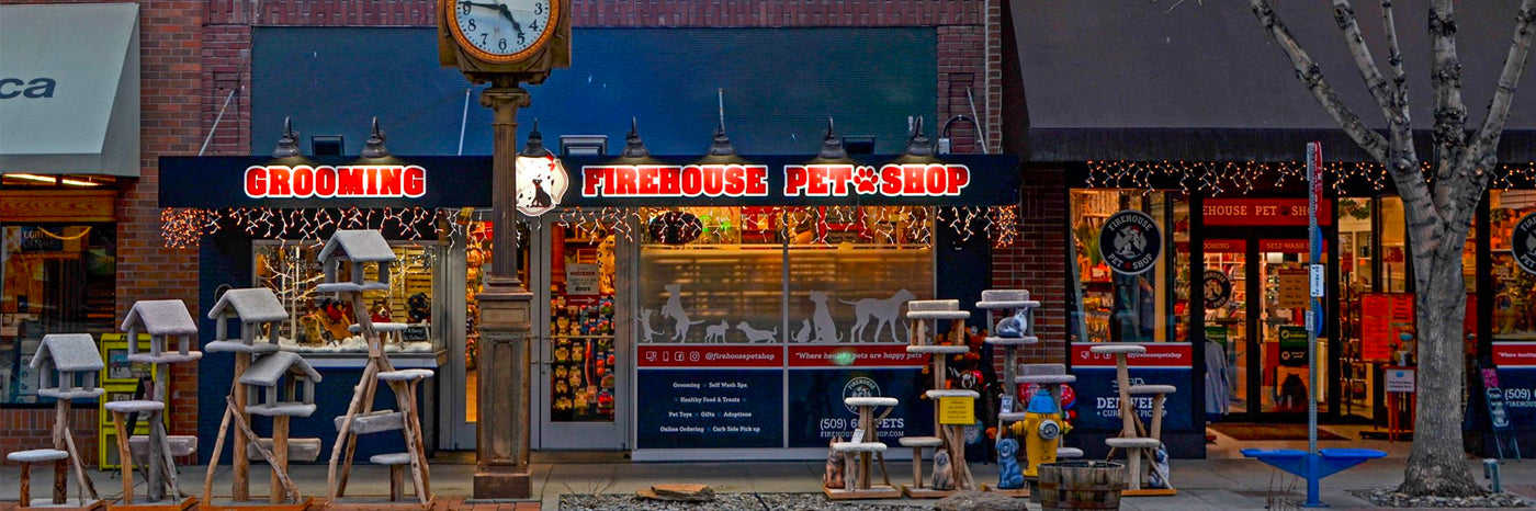 image of store front of firehouse pet shop