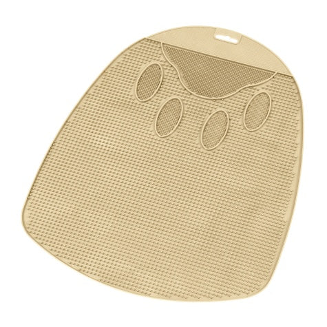 Petmate Litter Mat Ribbed Tan or Blue Asst