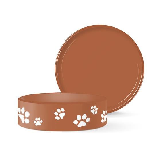 Fringe Paws Small Terra Cotta Bowl