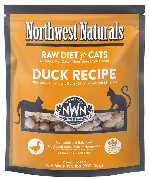 Northwest Naturals Cat Frozen Raw Nibbles Duck 2lb