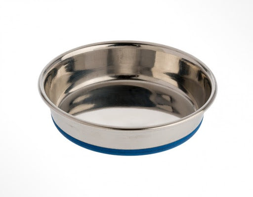 OurPets Rubber Bonded Stainless Cat Dish 8z