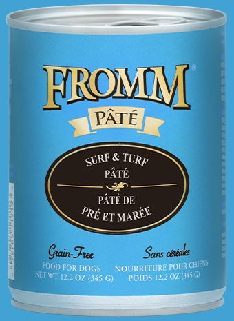Fromm K9 Cans Pate Surf & Turf 12.2oz