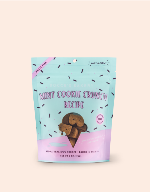 Bocces Soft and Chewy Mint Cookie Crunch 6oz