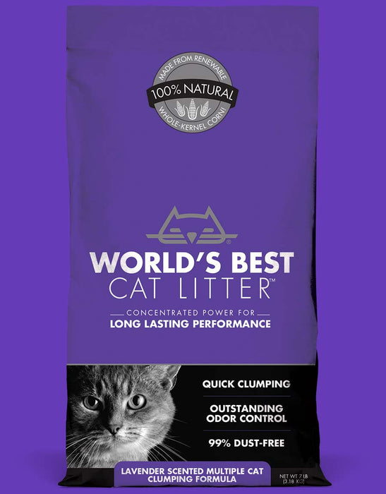 Worlds Best Cat Litter Lavender Multi