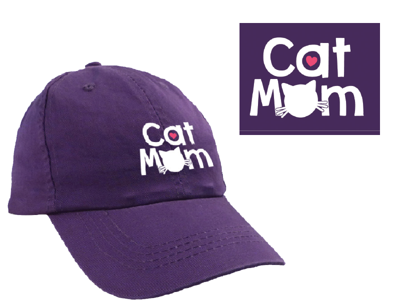 Dog Speak Ball Cap Cat Mom